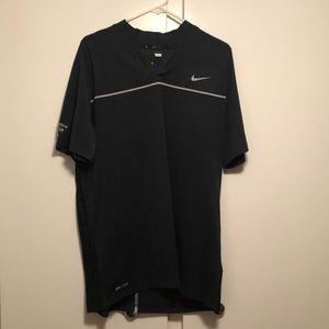 Dark grey Nike Tiger Woods collection golf polo